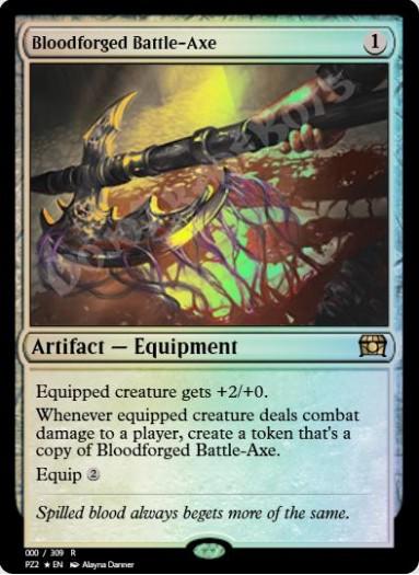 Bloodforged Battle-Axe FOIL