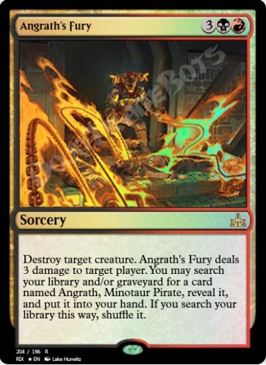 Angrath's Fury FOIL