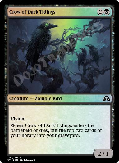 Crow of Dark Tidings FOIL