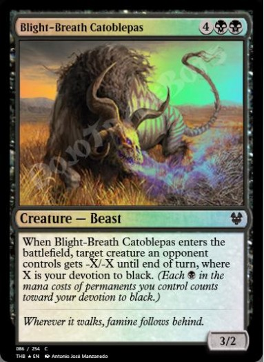 Blight-Breath Catoblepas FOIL
