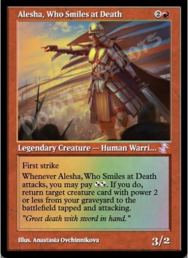Alesha, Who Smiles at Death FOIL