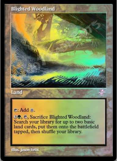Blighted Woodland FOIL
