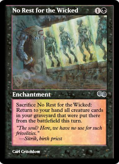 No Rest for the Wicked FOIL