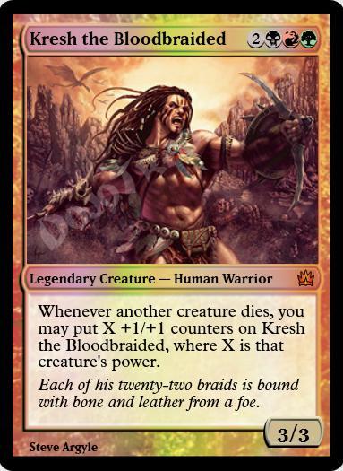 Kresh the Bloodbraided FOIL