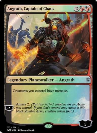 Angrath, Captain of Chaos FOIL