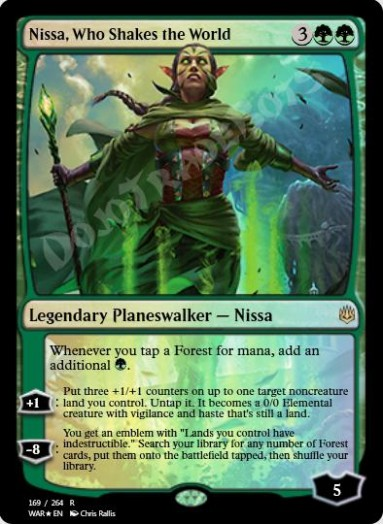 Nissa, Who Shakes the World FOIL
