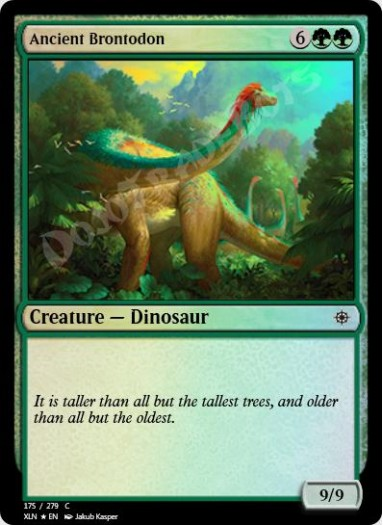 Ancient Brontodon FOIL