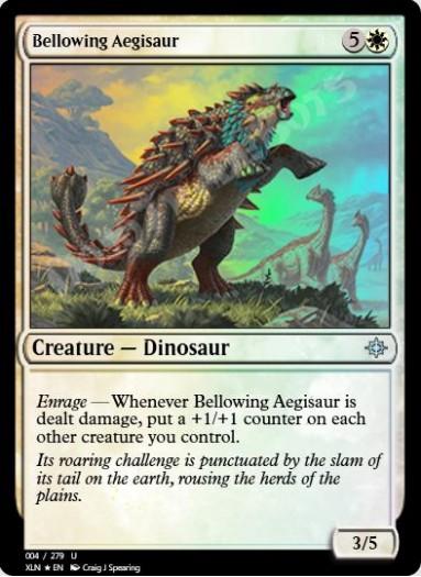 Bellowing Aegisaur FOIL