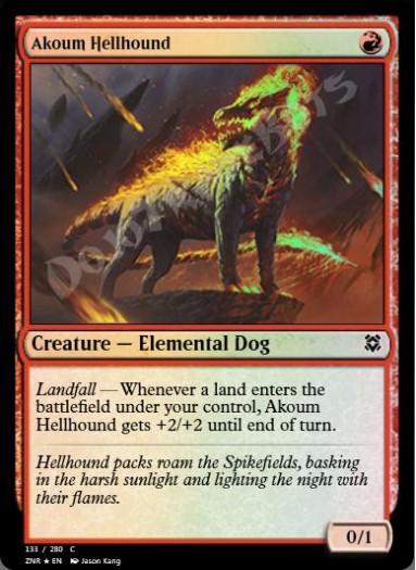 Akoum Hellhound FOIL